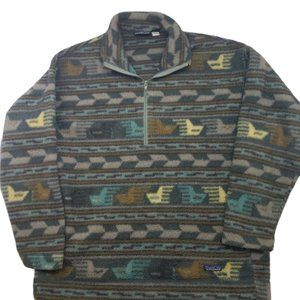 Patagonia Tribal Sweater Made in USA XL Synchilla